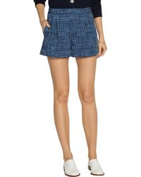 Marc Jacobs Printed Wool-twill Shorts - Lyst