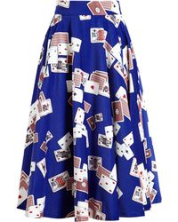 Olympia Le-Tan Playing Cards Midi Skirt - Lyst