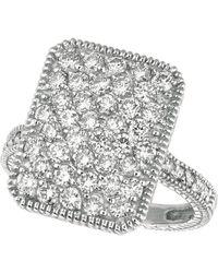 Morris & David - Diamond Ring In 14 Kt. White Gold - Lyst