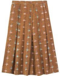 Toast Ikat Skirt - Multicolour