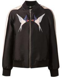 Stella McCartney 'Swallow Print' Bomber Jacket - Lyst