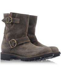 Fiorentini + Baker Gray Ankle Boots - Lyst