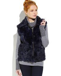 Surell Real Rabbit Fur Vest - Lyst