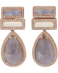 Dana Rebecca - Purple Sapphire And Opal Earrings - Lyst