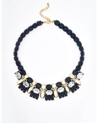 Girls On Film - Rubberised Section Necklace - Lyst