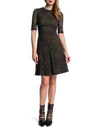 Cynthia Steffe Half-sleeve Lace Dress W Pleat - Lyst