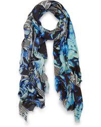 Teatum Jones - Blue Dallas Print Wool Scarf - Lyst