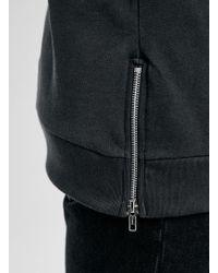 LAC - Washed Bk Longline Panelled Sweatshirt - Lyst