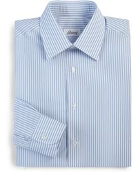Brioni Regular-Fit Striped Cotton Dress Shirt - Lyst