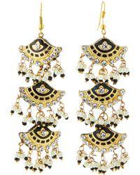 Chamak by Priya Kakkar - Fan-style Tier Drop Earrings - Lyst