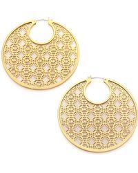 Michael Kors Heritage Monogram Logo Hoop Earrings/2 gold - Lyst