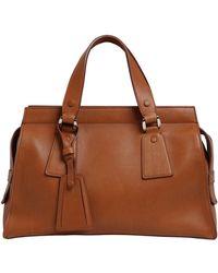 Giorgio Armani - Le Sac 11 Leather Top Handle Bag - Lyst cca3a7118f