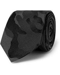 Valentino Camouflage-Print Silk Tie - Lyst