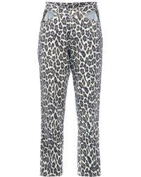 Jean Paul Gaultier Cropped Leopard Print Jean animal - Lyst