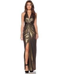 Halston Heritage Twist Front Gown - Lyst