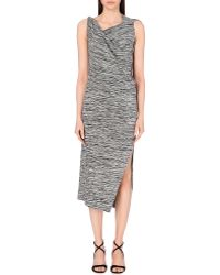 Vivienne Westwood Anglomania Country Draped Jersey Dress - For Women gray - Lyst