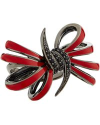 Stephen Webster Four-Loop Red Bow & Black Sapphire Ring - Lyst