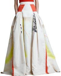 Carolina Herrera Modern Art Print Ball Skirt - Lyst