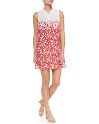 Tory Burch Issy Floral-print Voile Sundress - Lyst