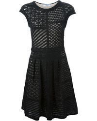Blumarine Knit Panel Dress - Lyst