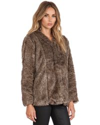 Heartloom Tess Faux Fur Coat - Lyst