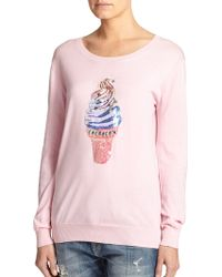 Markus Lupfer Sequin-Detail Merino Wool Sweater pink - Lyst
