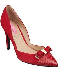 Isaac Mizrahi New York Lizette Leather & Suede Heels - Lyst