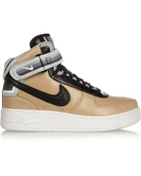 Nike  Riccardo Tisci Air Force 1 Leather Sneakers - Lyst