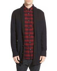Zanerobe - 'salem' Longline Oversized Shawl Collar Cardigan - Lyst