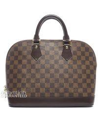 Louis Vuitton Preowned Damier Ebene Alma Pm Bag - Lyst