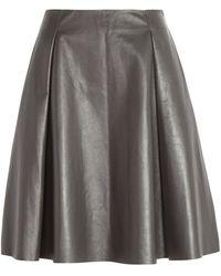 Peridot London Lincoln Leather Skirt - Lyst