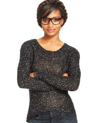 Material Girl - Juniors Sequin High-low Sweater - Lyst