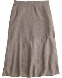 J.Crew Petite Merino Wool Skirt - Lyst