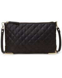 Forever 21 Quilted Faux Leather Crossbody - Lyst