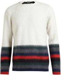 No 21 Striped Mohair Knit - Lyst