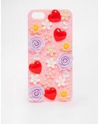 Asos Embellished Iphone 5 Case - Lyst