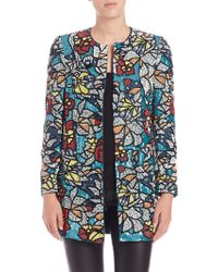 Alice + Olivia | Rory Embroidered Jacket | Lyst