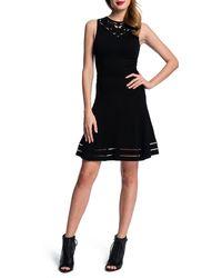Cynthia Steffe Embroideredyoke Dress W Openweave Hem - Lyst