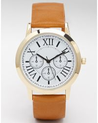 Asos Vintage Boyfriend Watch brown - Lyst