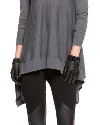 DKNY Nappa Leather Shorty Gloves - Lyst