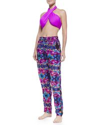 6 Shore Road By Pooja - Nepal Floral-Print Tapered Beach Pants - Lyst