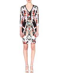 Roberto Cavalli Floral Stretchcrepe Dress Multi - Lyst