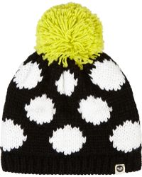 House of Holland - + Roxy Polka-Dot Knitted Hat - Lyst