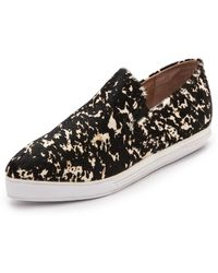 Jeffrey Campbell Marvey Slip On Sneakers  Blackwhite - Lyst