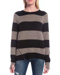 Pam & Gela Side Zip Stripe Sweater - Lyst