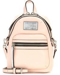 Marc By Marc Jacobs Domo Backpack Leather Shoulder Bag - Natural