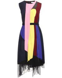 Peter Pilotto Haze Silk Dress - Lyst