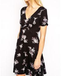 Oasis Scattered Rose Print Dress - Lyst