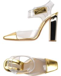 Michael Kors Gold Sandals - Lyst