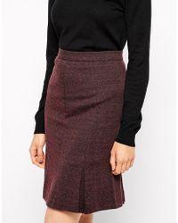Ganni Pencil Skirt - Lyst